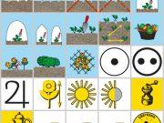 Barevné sáčky - popis balení a piktogramů osiva zeleniny, bylinek a květin