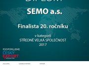 SEMO finalistou soutěže Exportní cena DHL UniCredit 2017