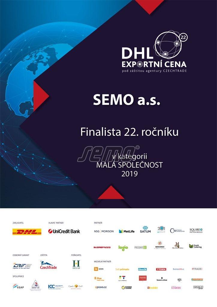 SEMO finalistou soutěže Exportní cena DHL 2019