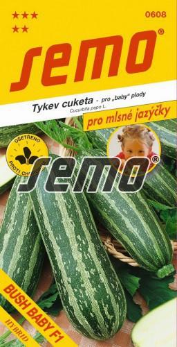 HOBBY, Zelenina - Tykev cuketa Bush Baby F1, 0608 (Cucurbita pepo. L.)
