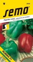 HOBBY, Zelenina - Paprika roční Rubika F1, 2533 (Capsicum annuum L.)