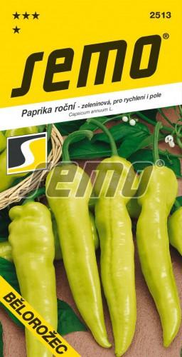 HOBBY, Zelenina - Paprika roční Bělorožec, 2513 (Capsicum annuum L.)