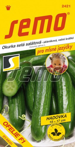 HOBBY, Zelenina - Okurka setá salátová hadovka Ofelie F1 (ASNxPAS F1), 2421 (Cucumis sativus L.)