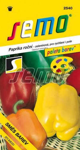 HOBBY, Zelenina - Paprika roční Směs barev zeleninová F1, 2540 (Capsicum annuum L.)