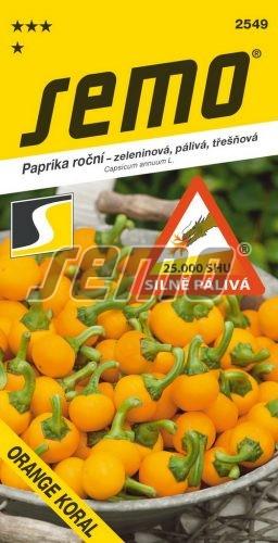 HOBBY, Zelenina - Paprika Orange Koral - pálivá, 2549 (Capsicum annum L.)