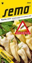 HOBBY, Zelenina - Paprika Habanero White - pálivá, 2550 (Capsicum chinense)