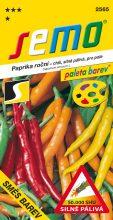 HOBBY, Zelenina - Paprika roční Směs barev chili, 2565 (Capsicum annuum L.)