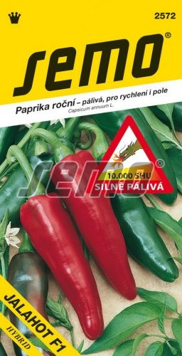 HOBBY, Zelenina - Paprika roční Jalahot F1, 2572 (Capsicum annuum L.)