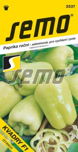 HOBBY, Zelenina - Paprika roční Kvadry F1, 2537 (Capsicum annuum L.)