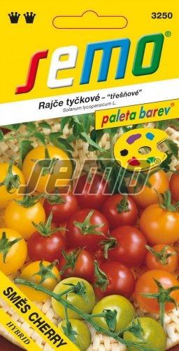 HOBBY, Zelenina - Rajče tyčkové Směs barev Cherry F1, 3250 (Solanum lycopersicum L)