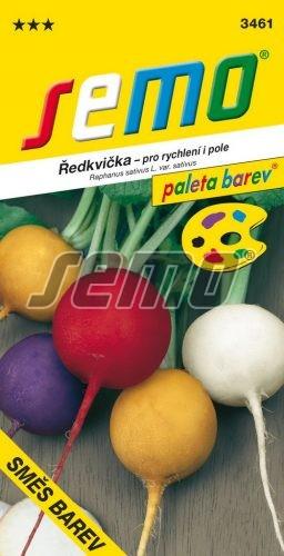 HOBBY, Zelenina - Ředkvička směs barev, 3461 (Raphanus sativus L.var.sativus)