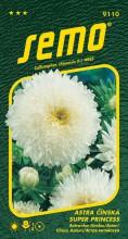 HOBBY, Květiny letničky - Astra čínská Super Princess bílá, 9110 (Callistephus chinensis)