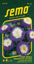 HOBBY, Květiny letničky - Astra čínská Pompon Blue and White, 9115 (Callistephus chinensis)