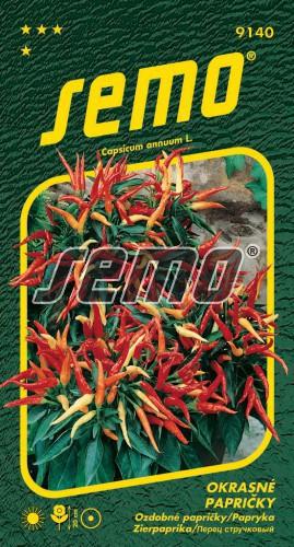 HOBBY, Květiny letničky - Papričky okrasné směs, 9140 (Capsicum annuum)