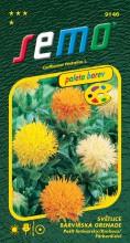 HOBBY, Květiny letničky - Světlice barvířská Grenade Mix, 9146 (Carthamus tinctorius)