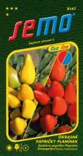 HOBBY, Květiny letničky - Papričky okrasné Plamínek, 9147 (Capsicum annuum)