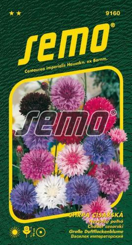 HOBBY, Květiny letničky - Chrpa císařská směs barev, 9160 (Centaurea cyanus)