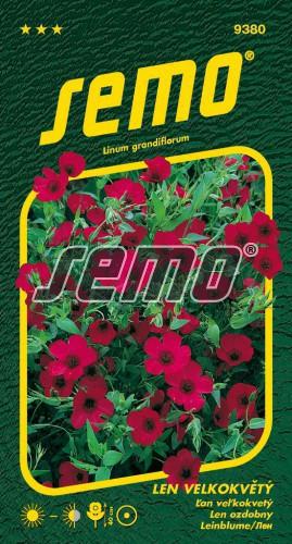 HOBBY, Květiny letničky - Len velkokvětý červený, 9380 (Linum grandiflorum)