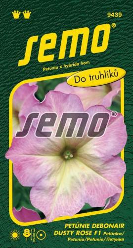 HOBBY, Květiny letničky - Petunie mnohokvětá Debonair Dusty Rose F1, 9439 (Petunia x hybrida)