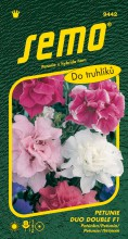 HOBBY, Květiny letničky - Petunie mnohokvětá Duo Double Mix F1, 9442 (Petunia x hybrida)
