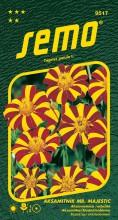 HOBBY, Květiny letničky - Aksamitník rozkladitý Mr. Majestic, 9517 (Tagetes patula)