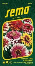 HOBBY, Květiny letničky - Ostálka lepá Caroussel, 9573 (Zinnia elegans)