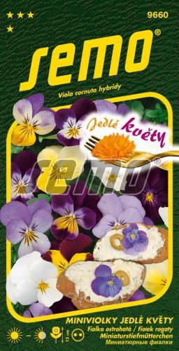 HOBBY, Květiny trvalky - Miniviolka Jedlé květy, 9660 (Viola cornuta hybridy)