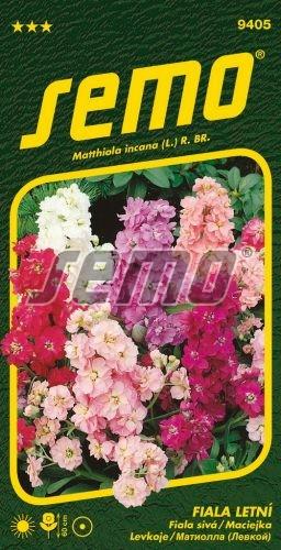 HOBBY, Květiny letničky - Fiala letní směs, 9405 (Mathiola incana)